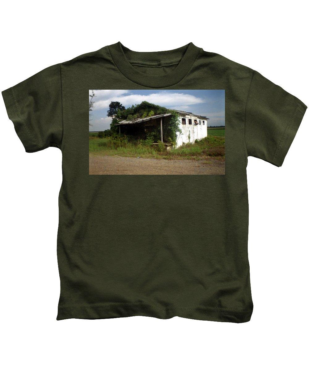 Louisiana Kids T-Shirt featuring the photograph Store- La Hwy 4 by Doug Duffey