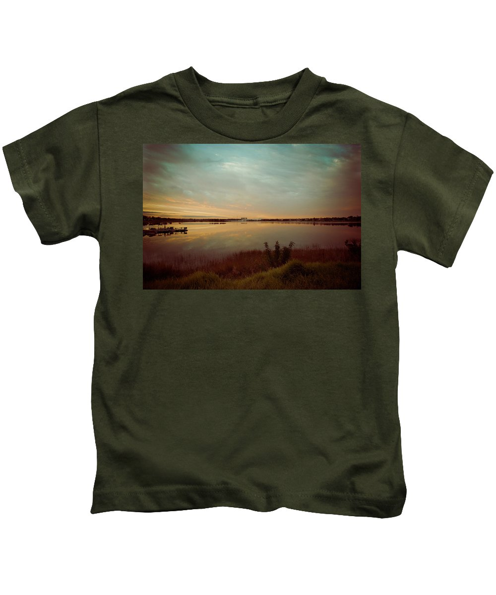 Lake Kids T-Shirt featuring the photograph Sunrise In Orlando by Trish Tritz