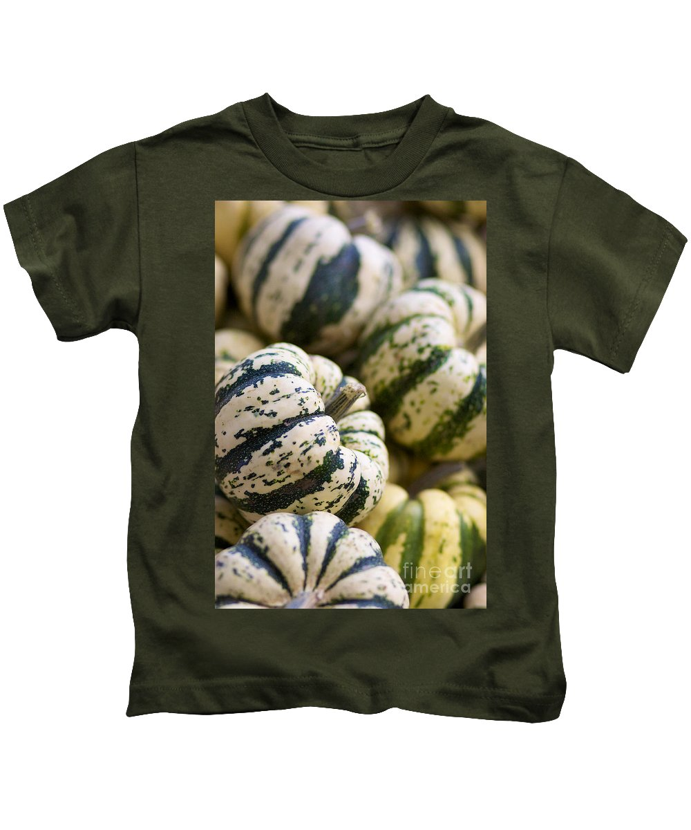 Sweet Dumpling Kids T-Shirt featuring the photograph Sweet Dumpling Squash by Brooke Roby