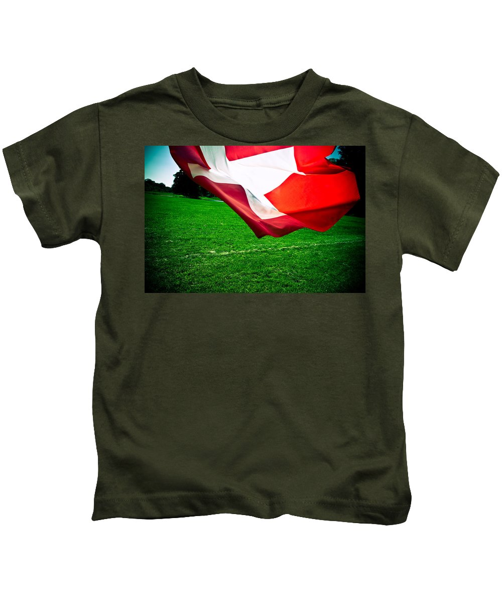Flag Kids T-Shirt featuring the photograph Swiss Flag by Olivier De Rycke