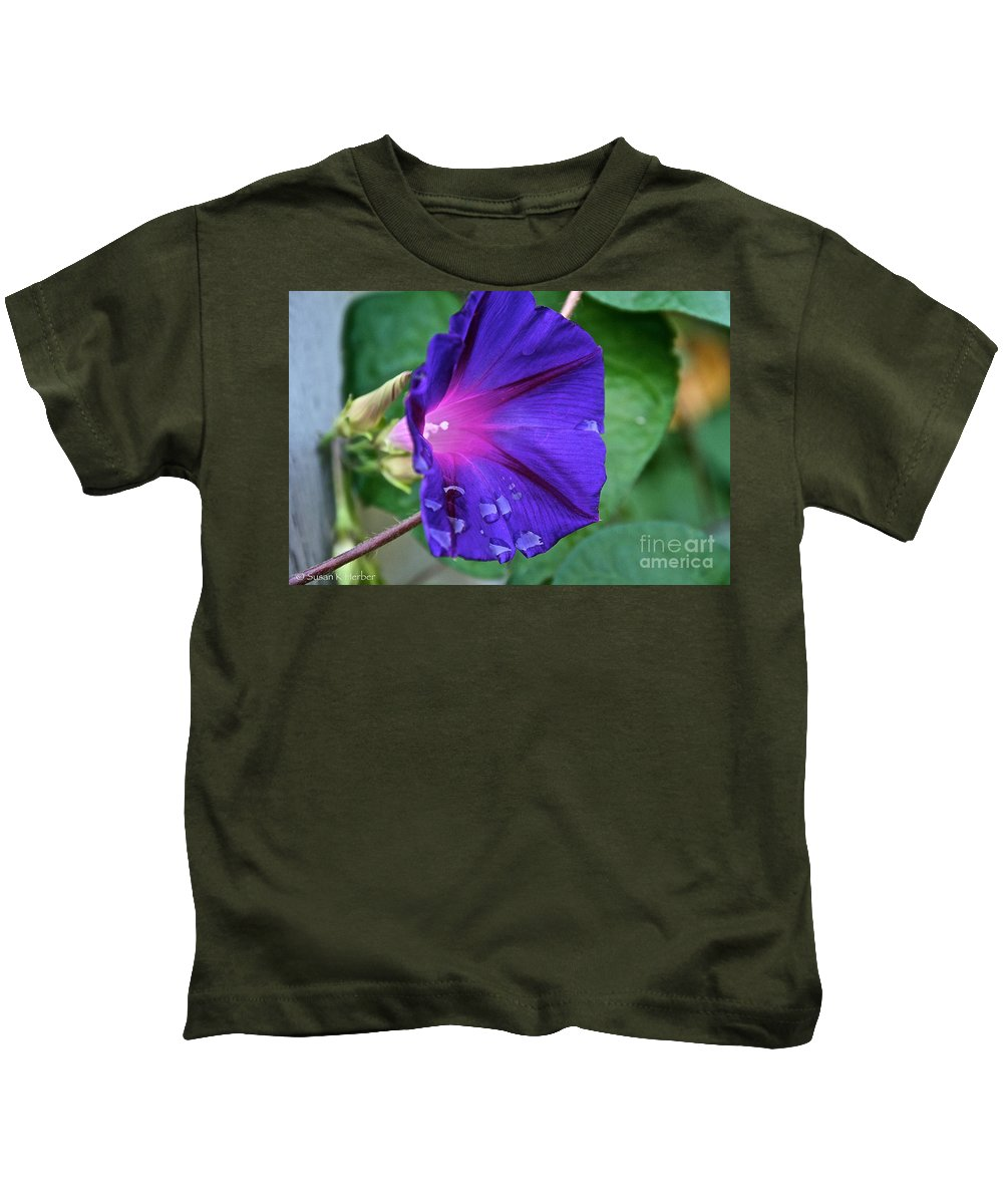Outdoors Kids T-Shirt featuring the photograph Tearful by Susan Herber