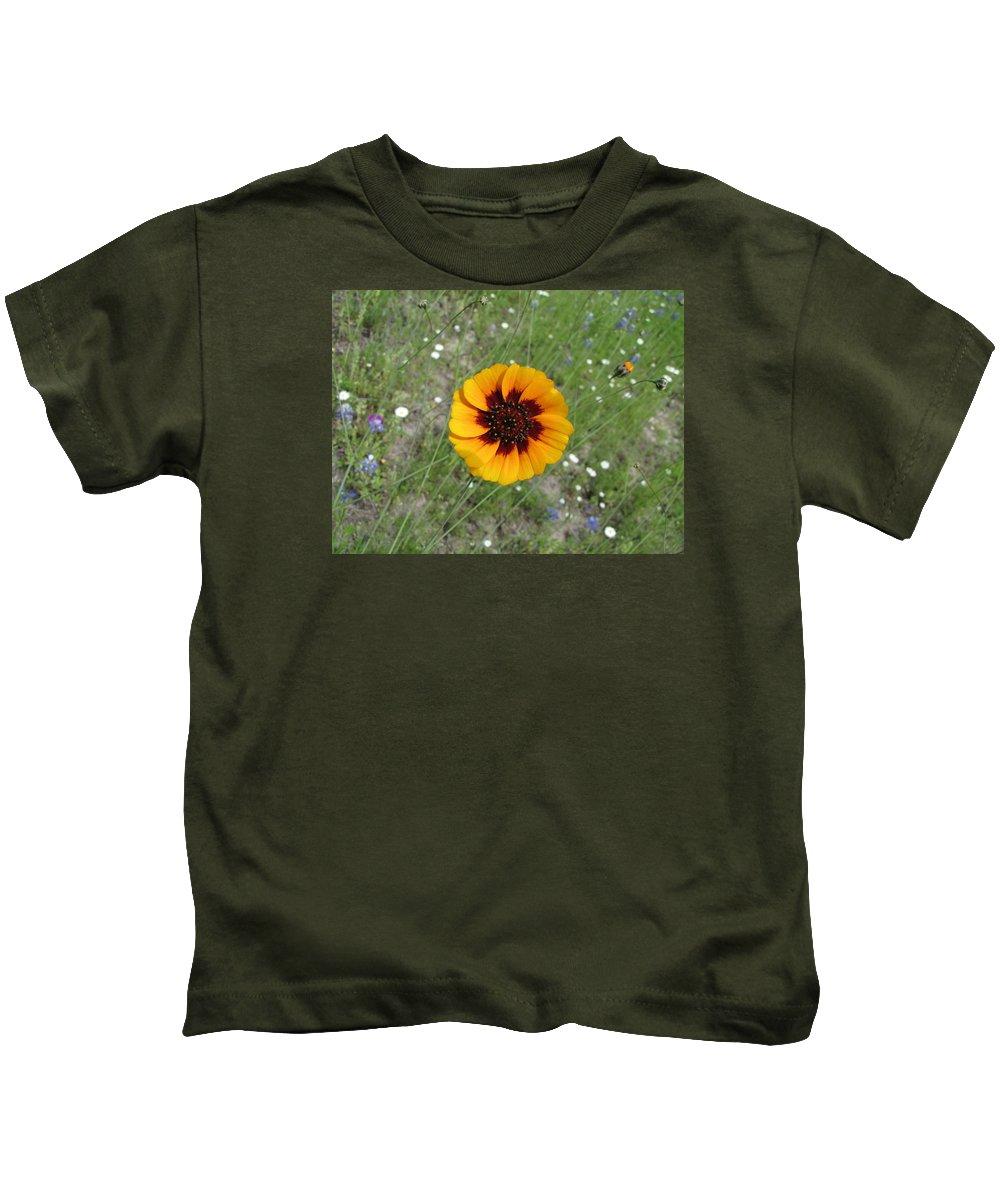 Landscape Kids T-Shirt featuring the photograph Texas Wildflower by Sandra Vasko