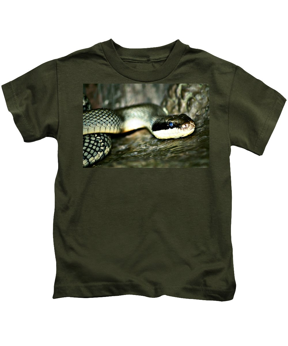 Street Photographer Kids T-Shirt featuring the photograph The Apple Vender by The Artist Project