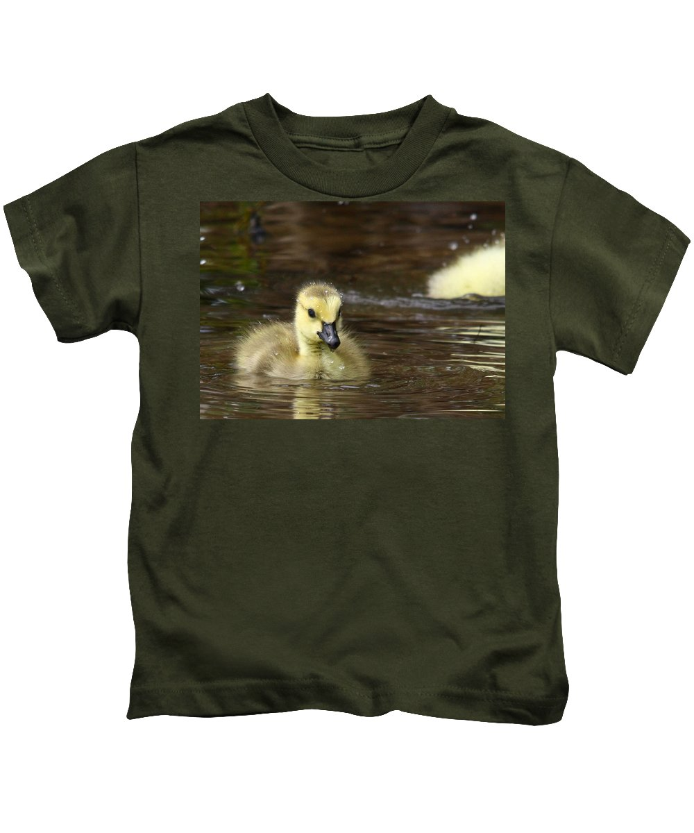 Goose Kids T-Shirt featuring the photograph The Golden One by Lori Deiter