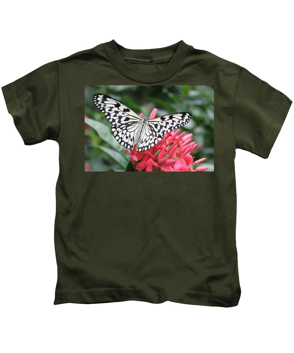 Paperkite Kids T-Shirt featuring the photograph The Paper Kite by Jane Linders