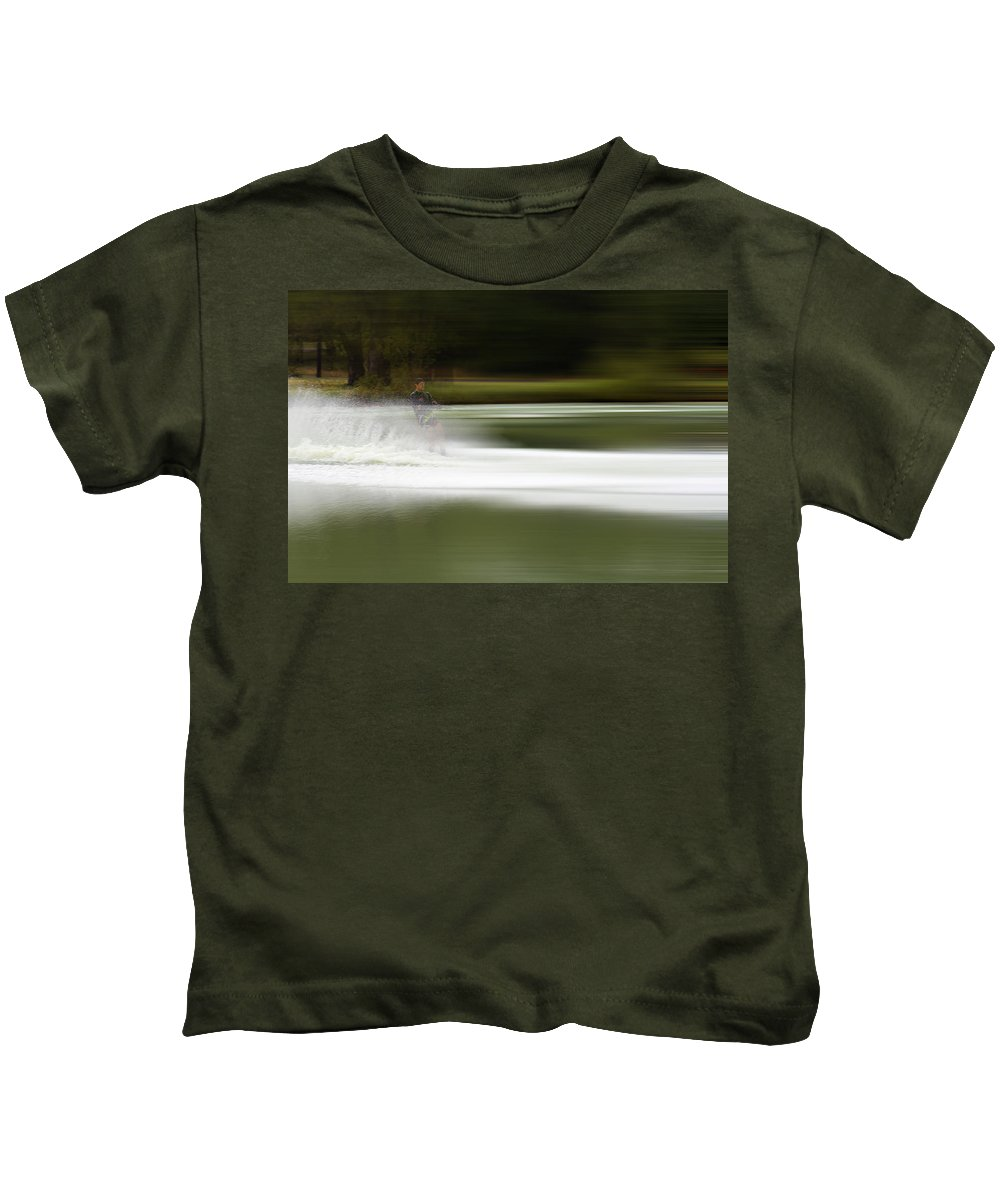 The Water Skier Kids T-Shirt featuring the photograph The Water Skier 2 by Douglas Barnard