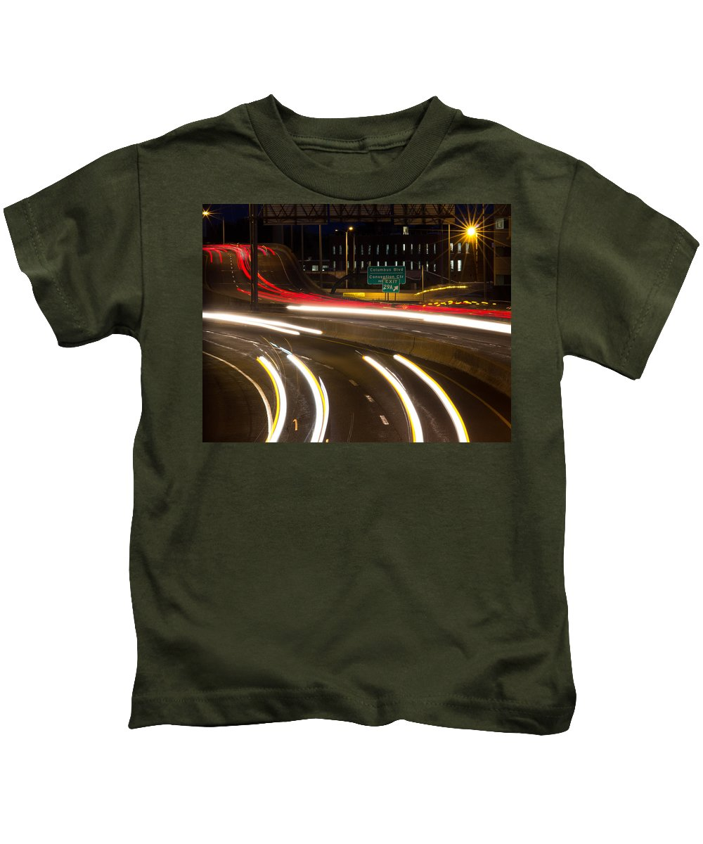 Hartford Kids T-Shirt featuring the photograph Time Lapse by Frank Pietlock