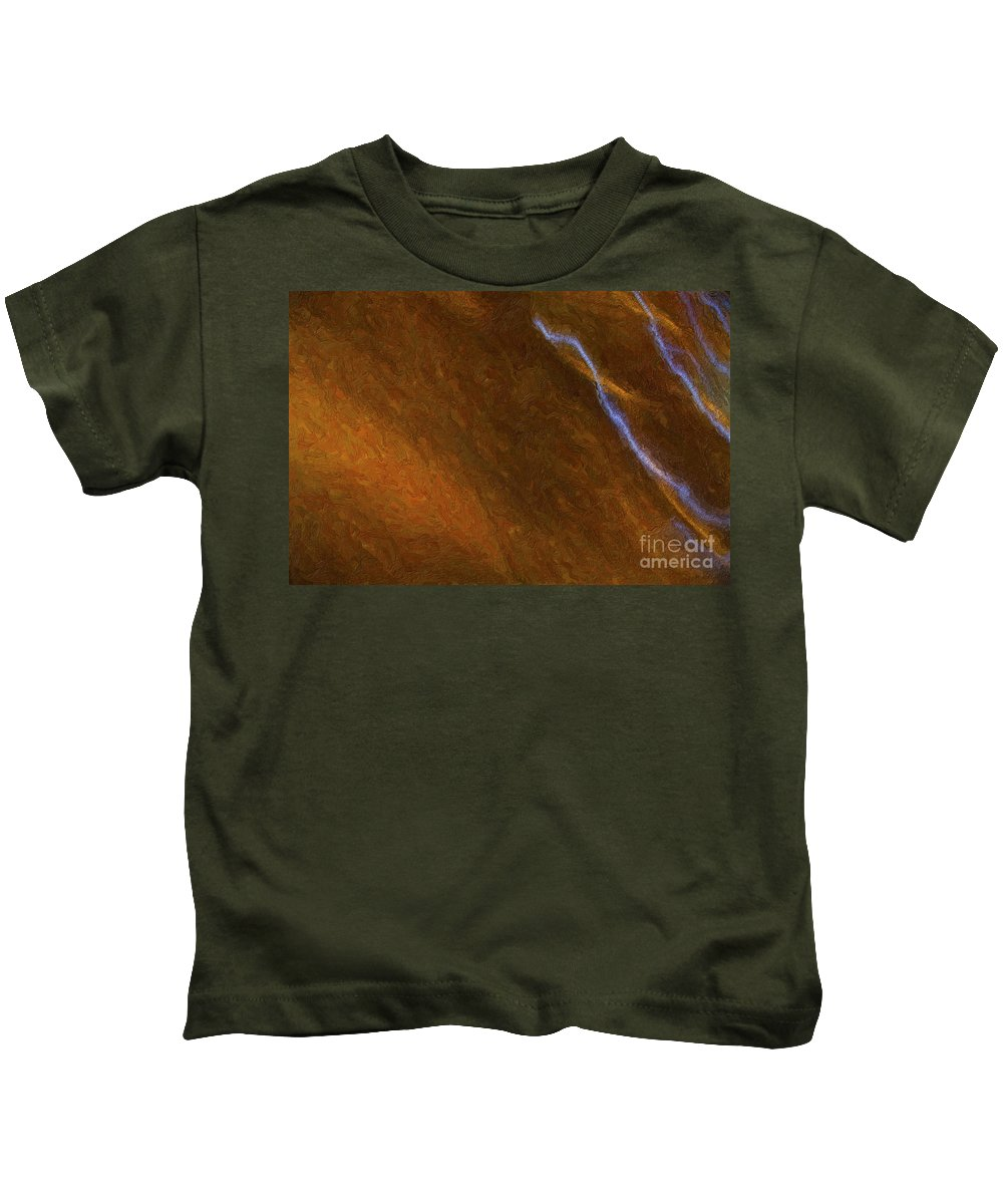 Abstract Kids T-Shirt featuring the digital art Tongues Of Fire by Diane Macdonald