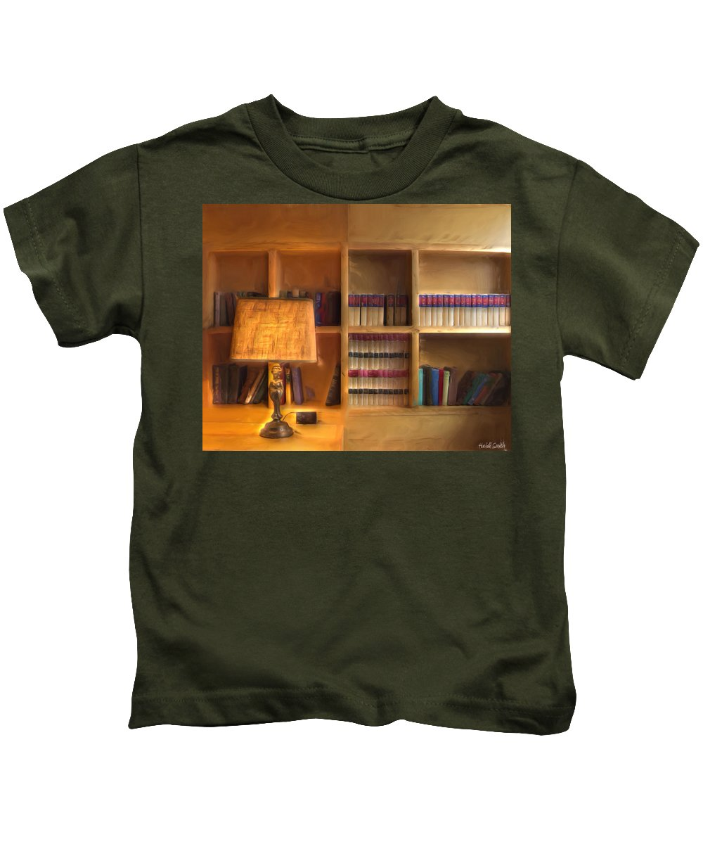 Top Pot Kids T-Shirt featuring the photograph Top Pot's Library by Heidi Smith