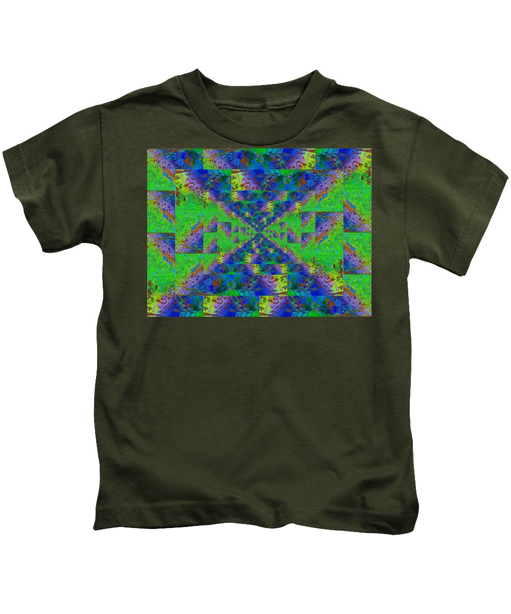 Abstract Kids T-Shirt featuring the digital art Triangulation Revisited by Tim Allen