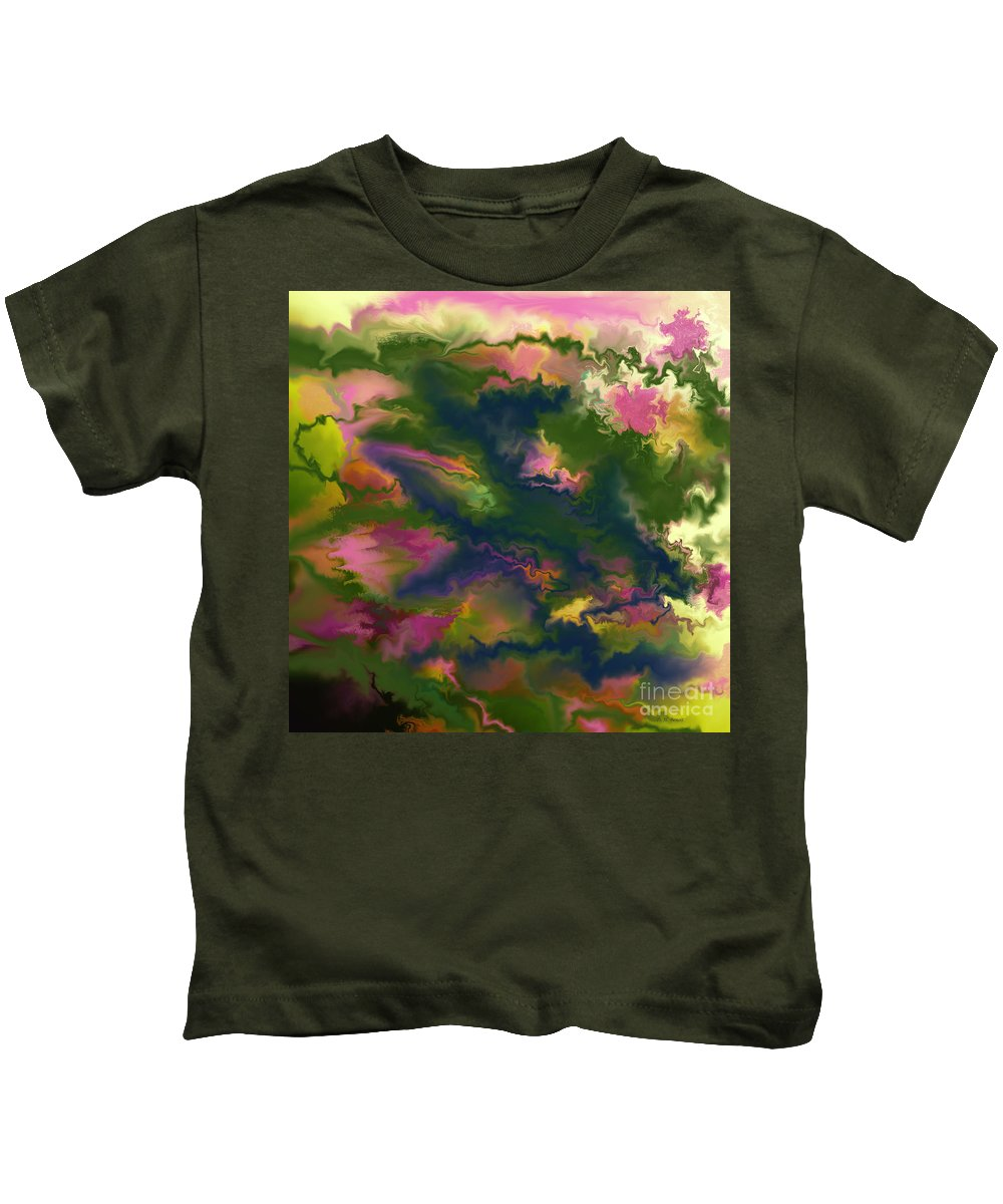 Digital Painting Kids T-Shirt featuring the digital art Turbulent Times by Deborah Benoit
