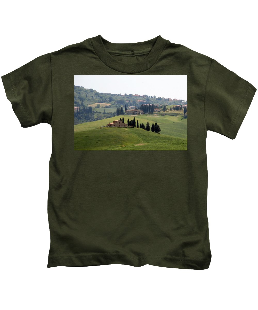 Tuscany Kids T-Shirt featuring the photograph Tuscany by Carla Parris