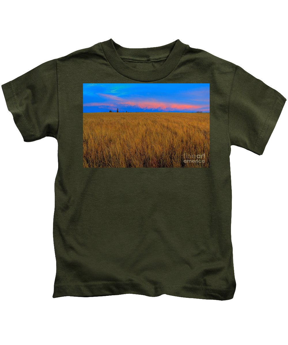 Alberta Kids T-Shirt featuring the photograph Twilight Pink by James Anderson