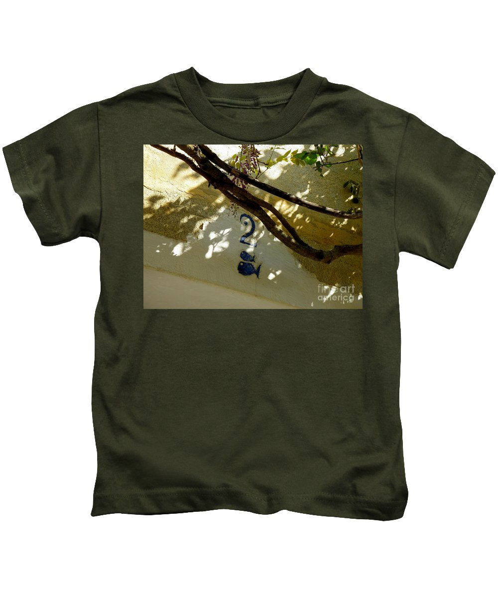 Door Kids T-Shirt featuring the photograph Two Fish Over Door by Lainie Wrightson