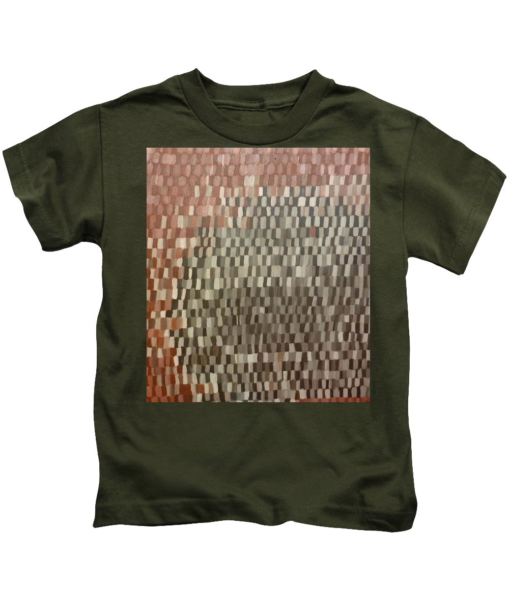 Brown Painting Kids T-Shirt featuring the painting Umbers by Patrice Tullai
