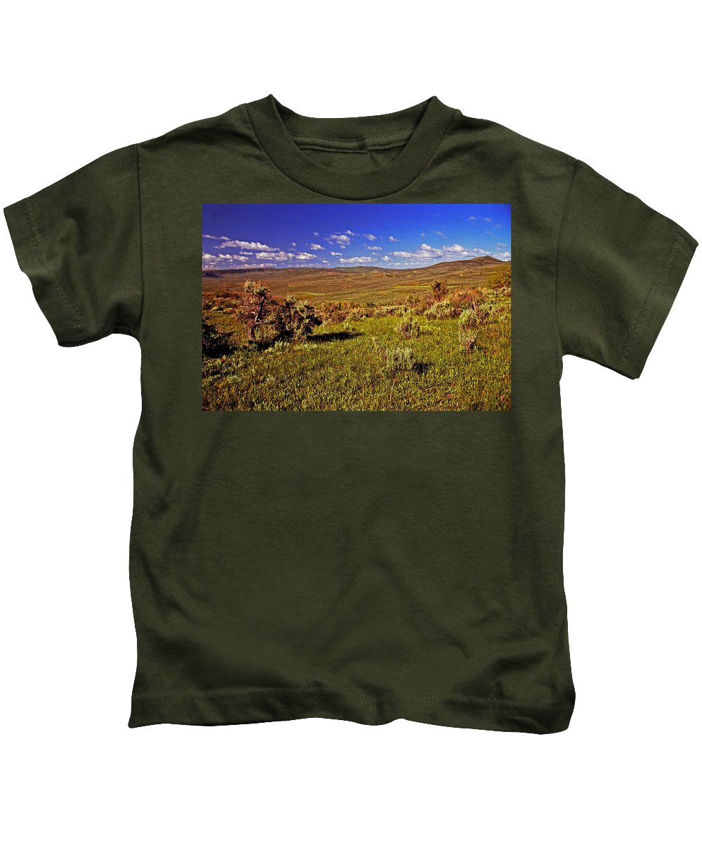 Wyoming Kids T-Shirt featuring the photograph Valley At Fossil Butte Nm by Rich Walter