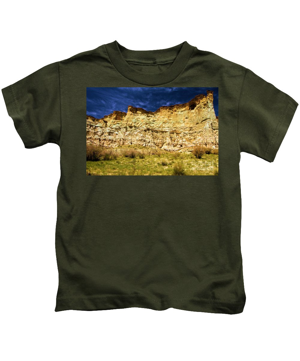 Wahweap Hoodoos Kids T-Shirt featuring the photograph Wahweap Cliff by Adam Jewell