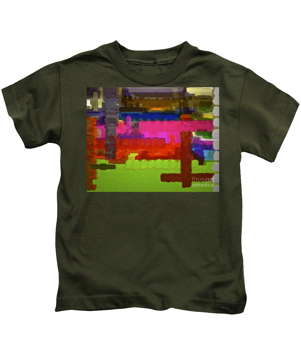 Colorful Abstract Kids T-Shirt featuring the photograph Wake Up And Live by Gwyn Newcombe