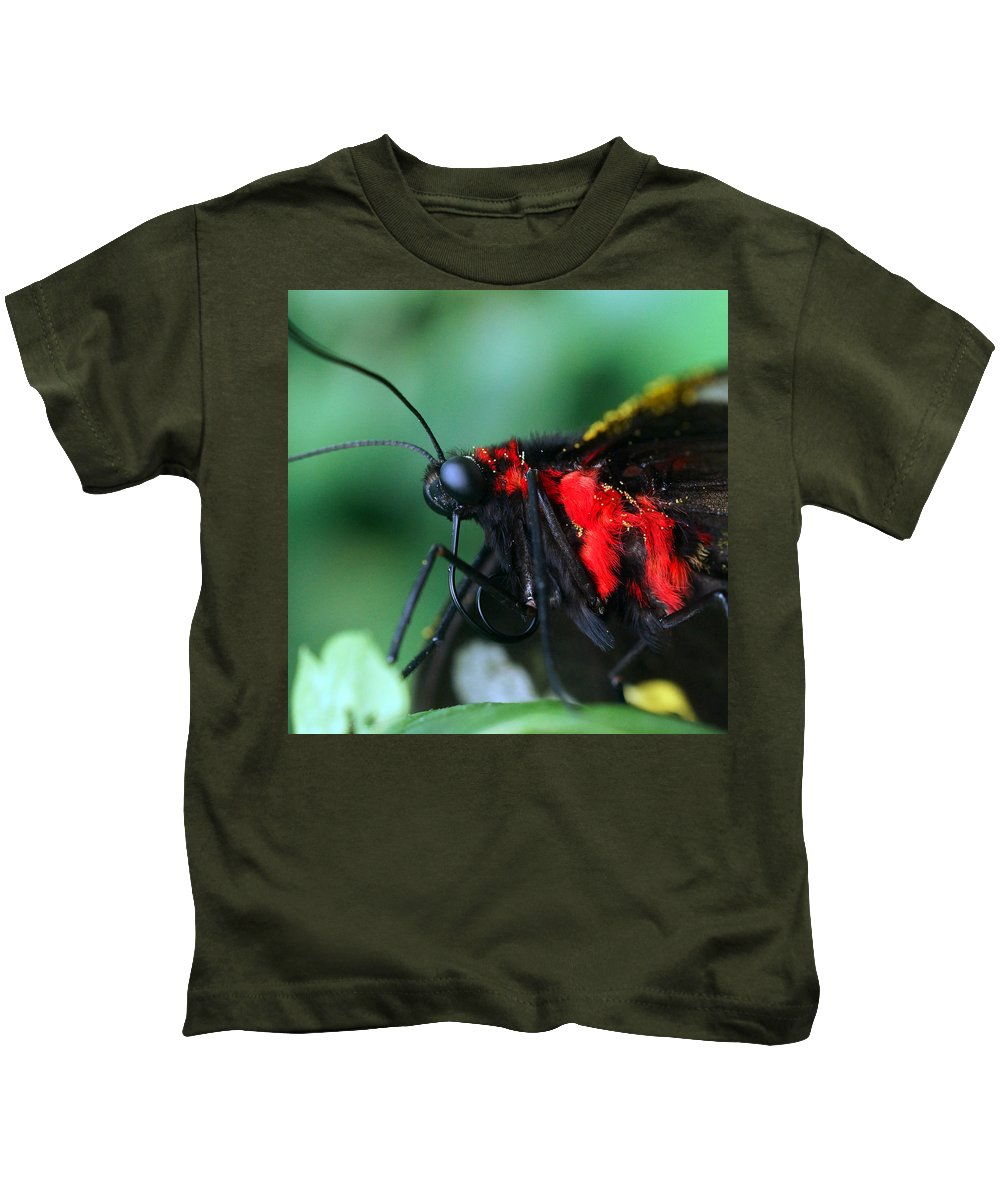 Butterfly Kids T-Shirt featuring the photograph What's Up? by Sumi Martin