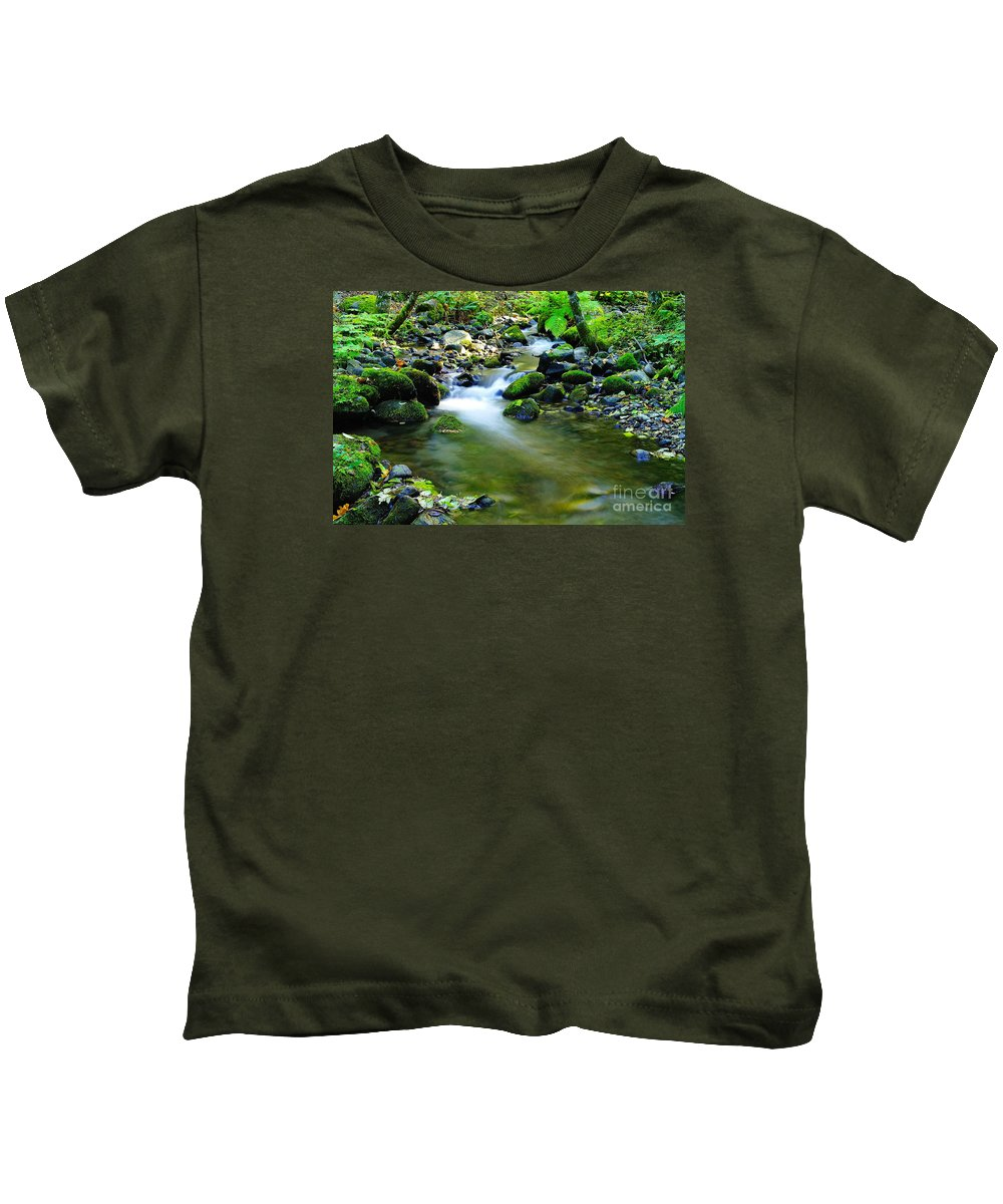 Water Kids T-Shirt featuring the photograph Where The Simple Water Runs by Jeff Swan