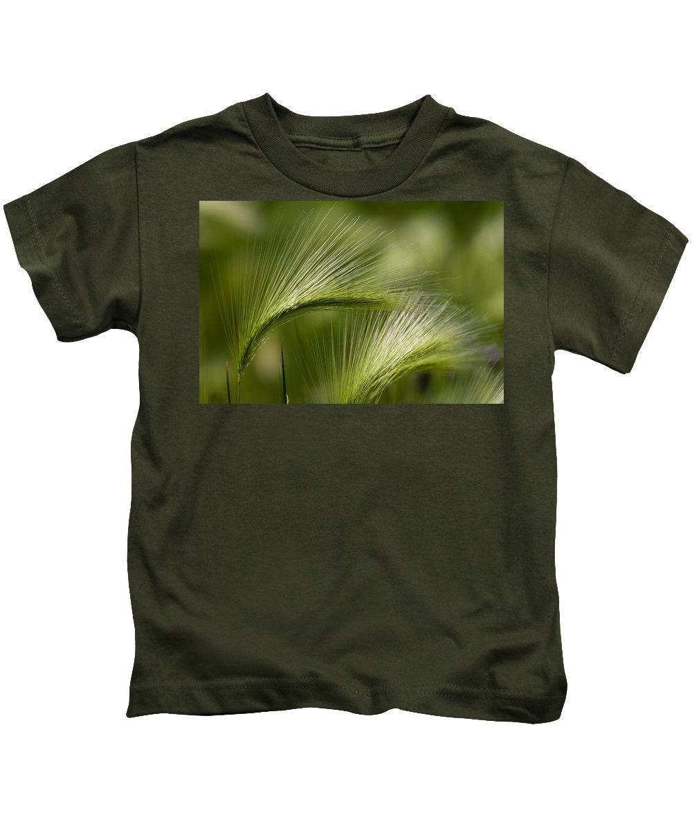 Western Kids T-Shirt featuring the photograph Wyoming Grassess by Rich Franco