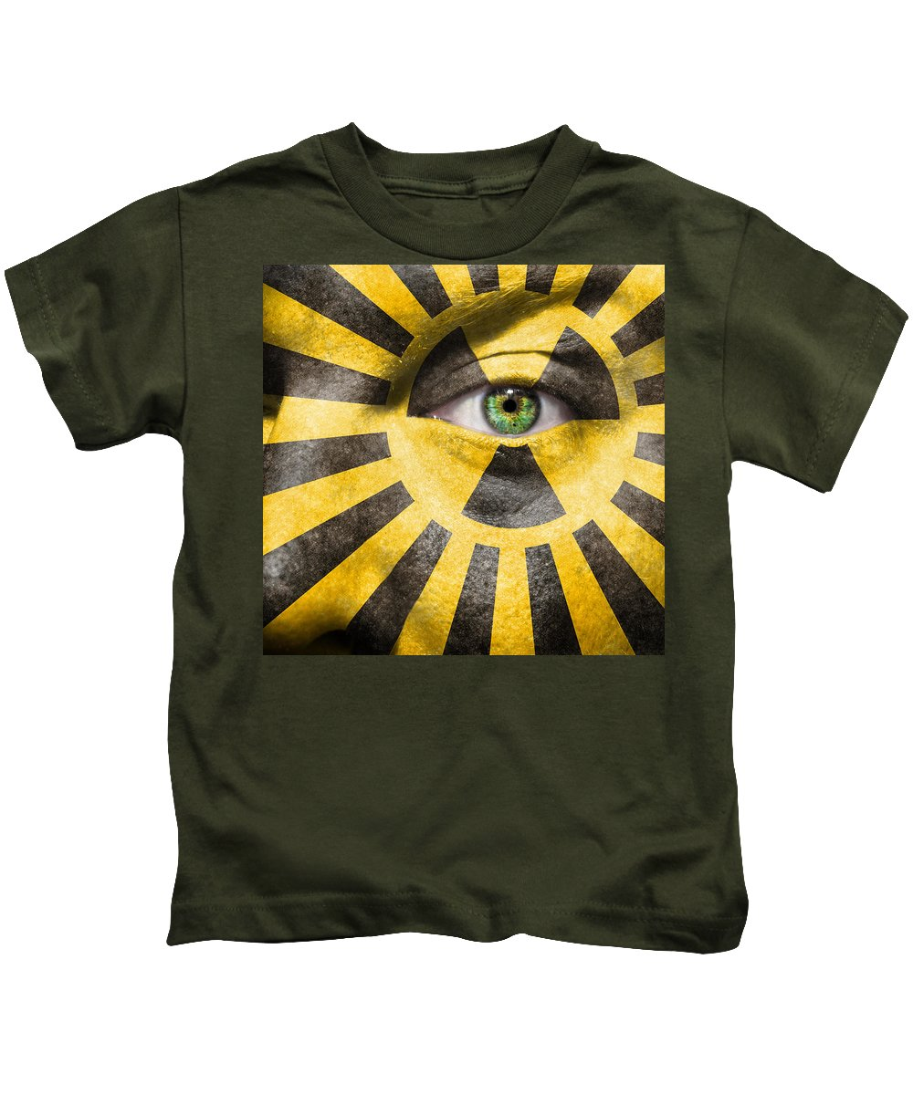 Becquerel Kids T-Shirt featuring the photograph X-ray Vision by Semmick Photo