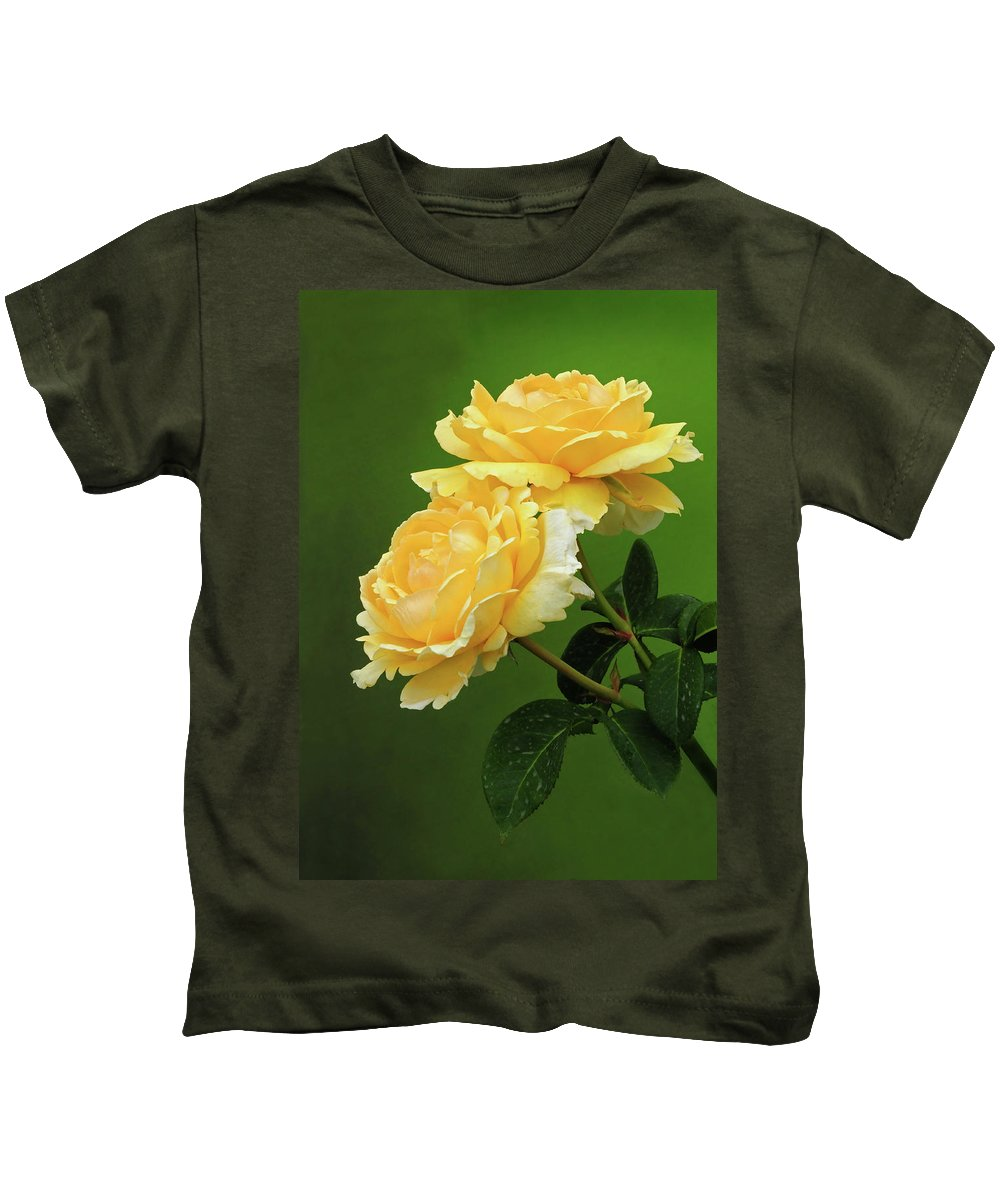 Rose Kids T-Shirt featuring the photograph Yellow Rose by Dave Mills