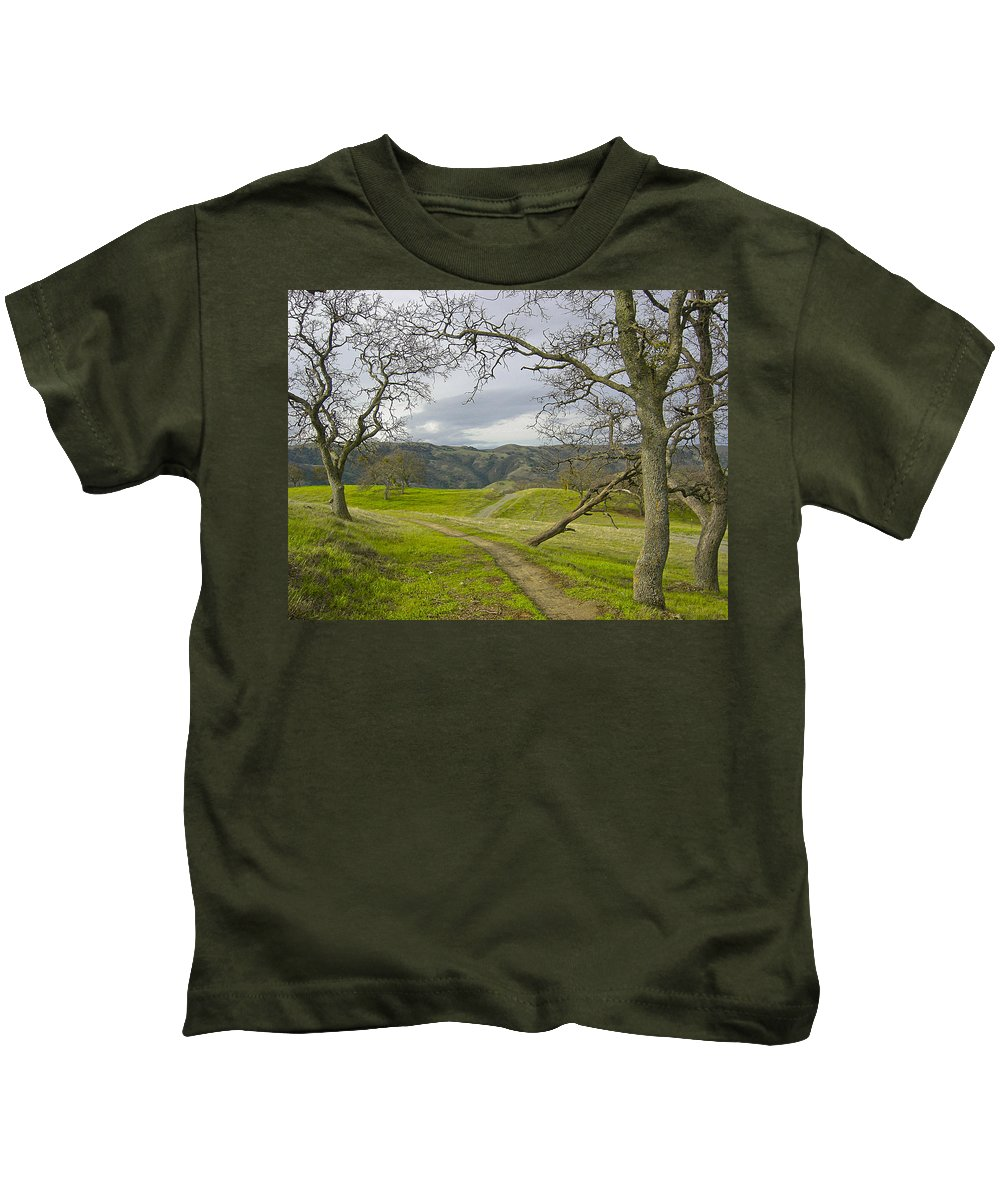 Landscape Kids T-Shirt featuring the photograph East Ridge Trail Spring by Karen W Meyer