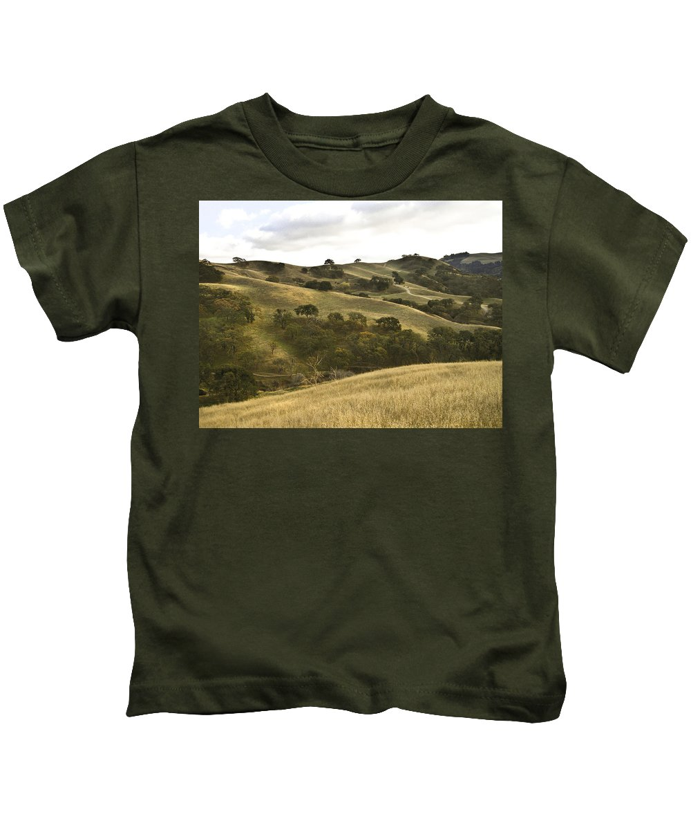 Landscape Kids T-Shirt featuring the photograph First Hill In Fall by Karen W Meyer