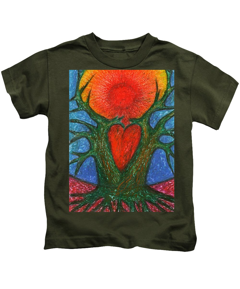 Colour Kids T-Shirt featuring the pastel Greeting Of Joy by Wojtek Kowalski