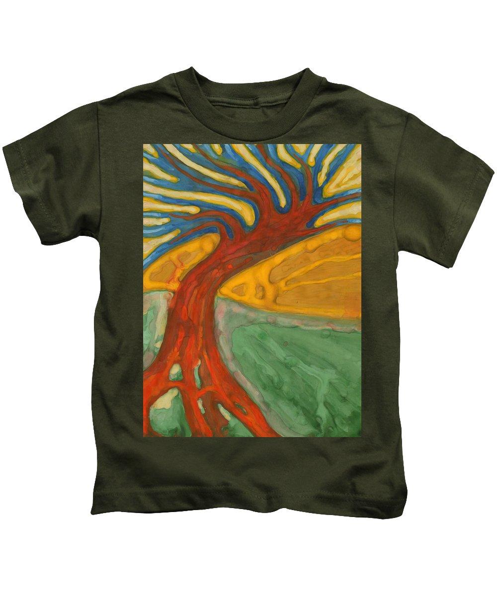 Colour Kids T-Shirt featuring the painting I Would Like To Be Me by Wojtek Kowalski