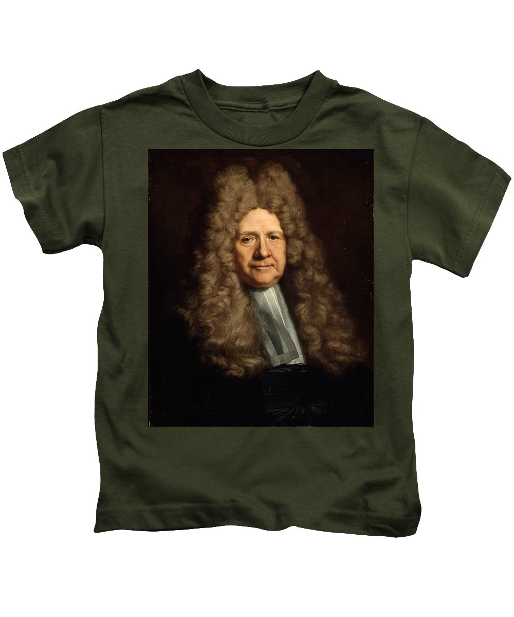 A Magistrate Painting Painted Originally By Hyacinthe Francois Rigau Y Ros Kids T-Shirt featuring the painting A Magistrate Painting Painted Originally by Hyacinthe Francois
