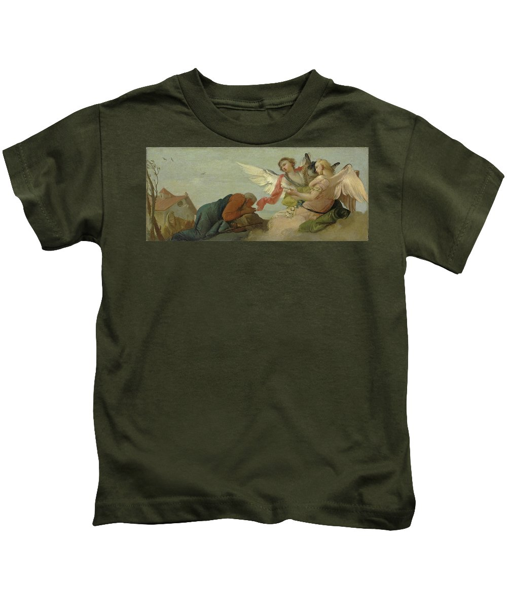Francesco Zugno Kids T-Shirt featuring the painting Abraham And The Three Angels by Francesco Zugno