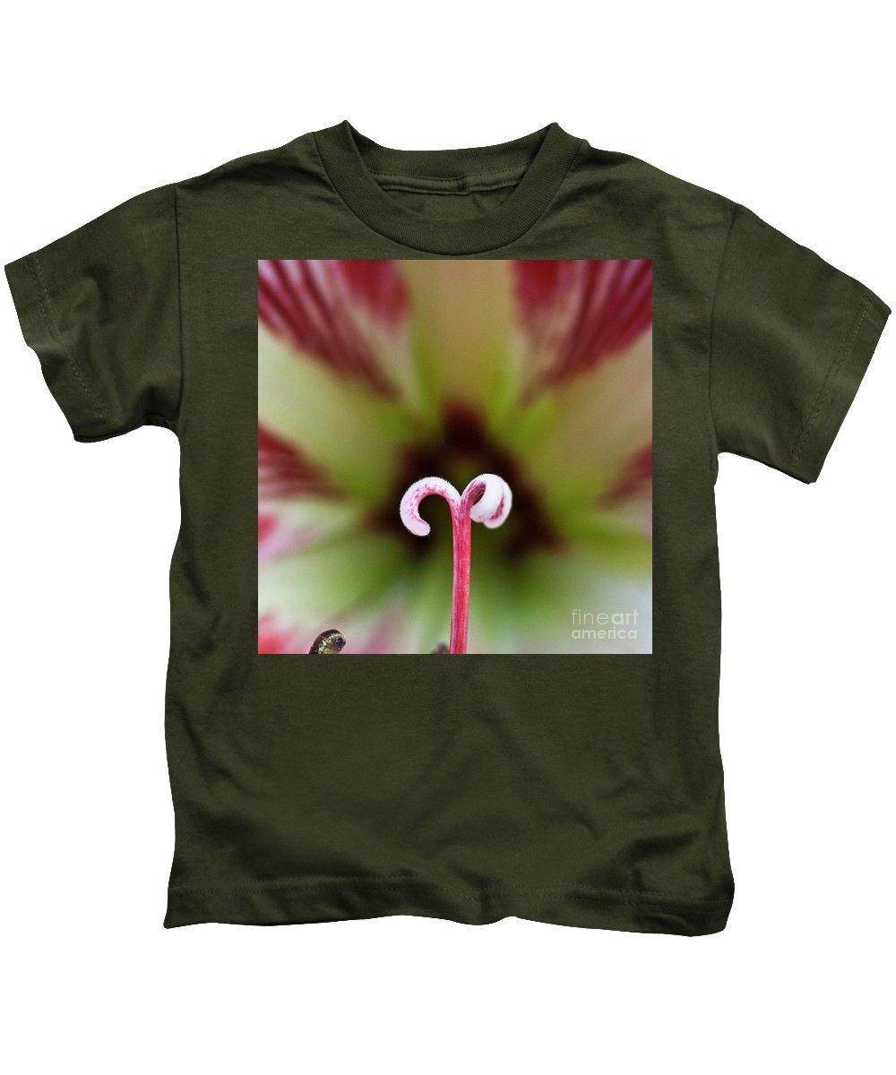 Amaryllis Kids T-Shirt featuring the photograph Amaryllis Flower by Heiko Koehrer-Wagner