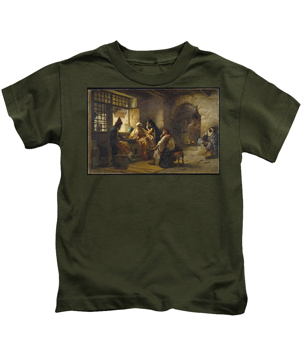 Frederick Arthur Bridgman (american Kids T-Shirt featuring the painting An Interesting Game by Frederick Arthur
