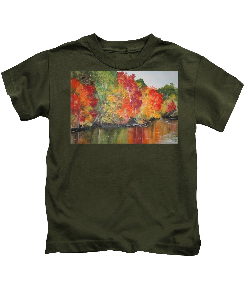 Autumn Kids T-Shirt featuring the painting Autumn Splendor by Jean Blackmer