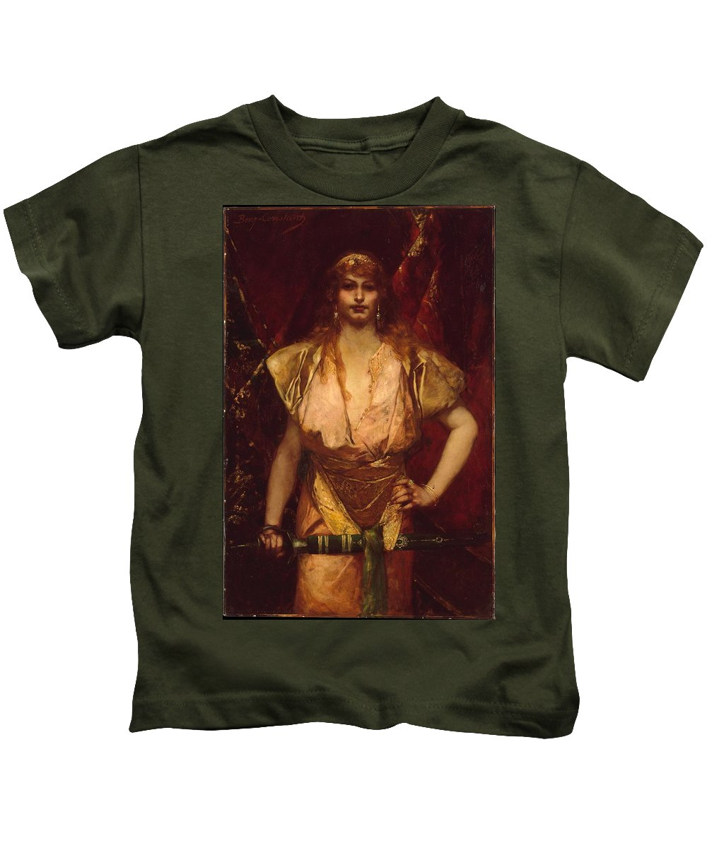 Judith Kids T-Shirt featuring the painting Benjamin Constant by MotionAge Designs