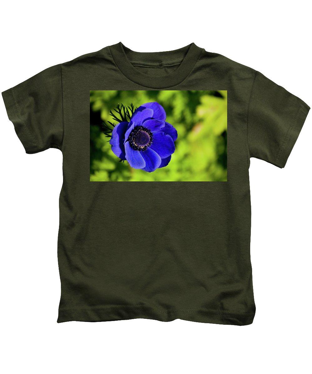Kids T-Shirt featuring the photograph Blue Bonnet by Trish Tritz