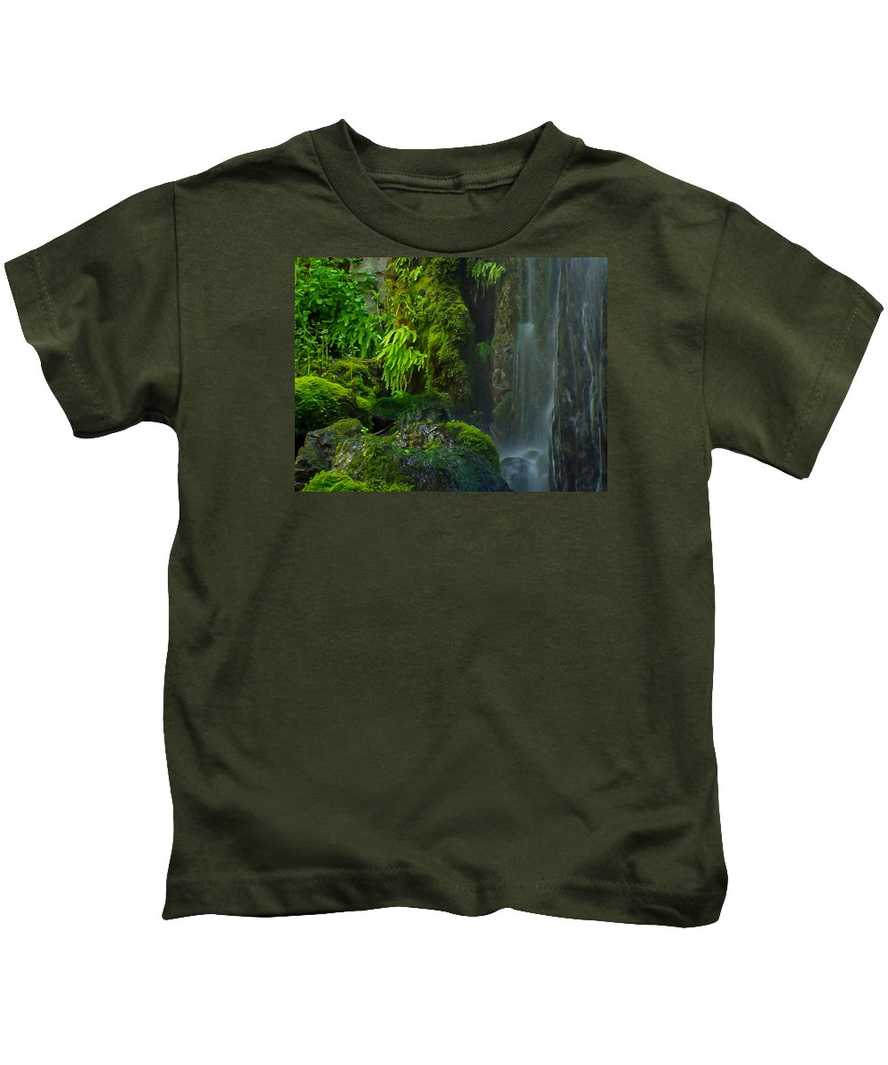 Bluff Falls Kids T-Shirt featuring the photograph Bluff Falls by Michele James