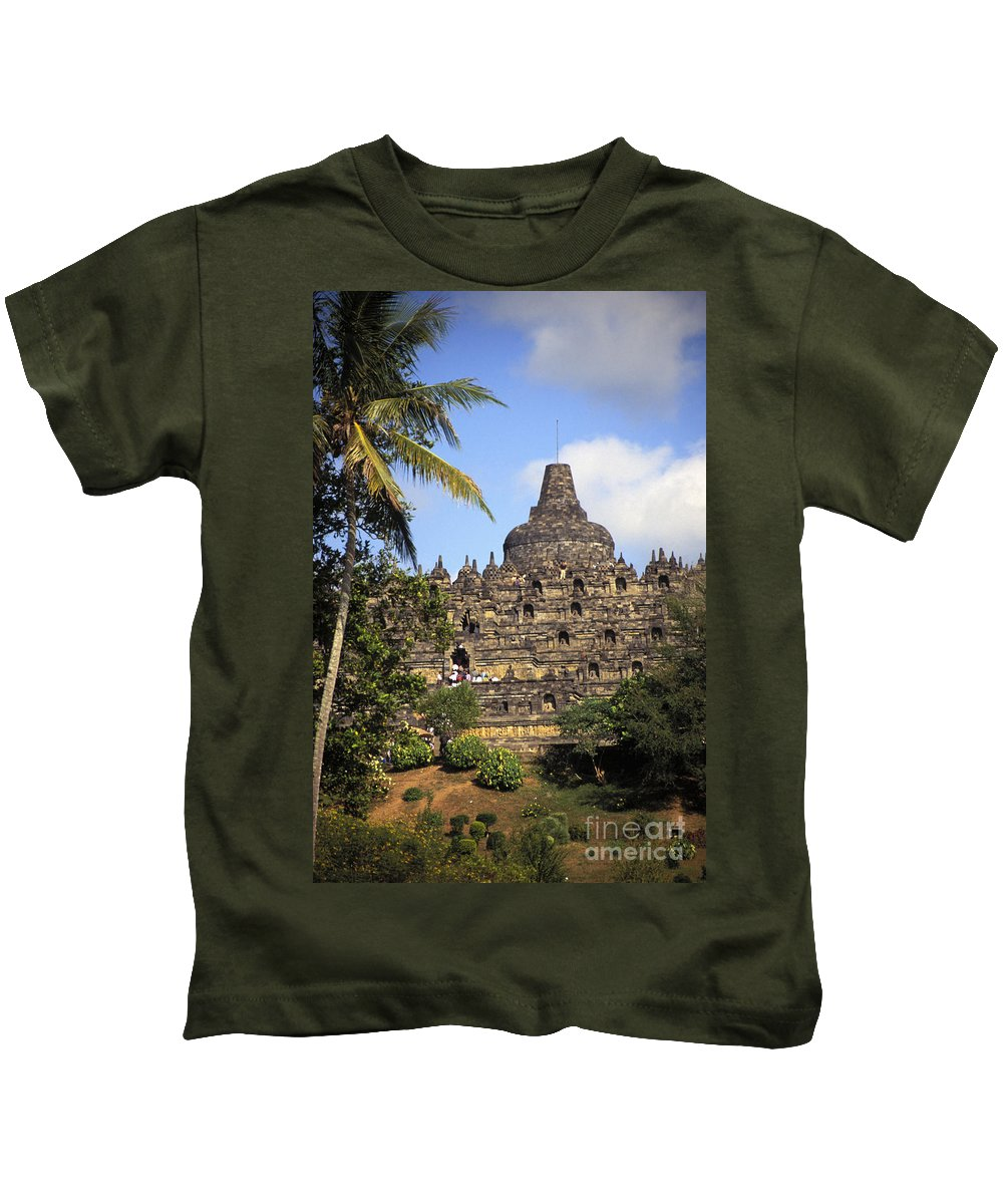 Ancient Kids T-Shirt featuring the photograph Borobudor Temple by Gloria & Richard Maschmeyer - Printscapes