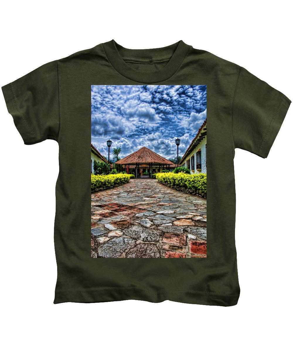 Colonial Kids T-Shirt featuring the photograph Colonial House by Galeria Trompiz