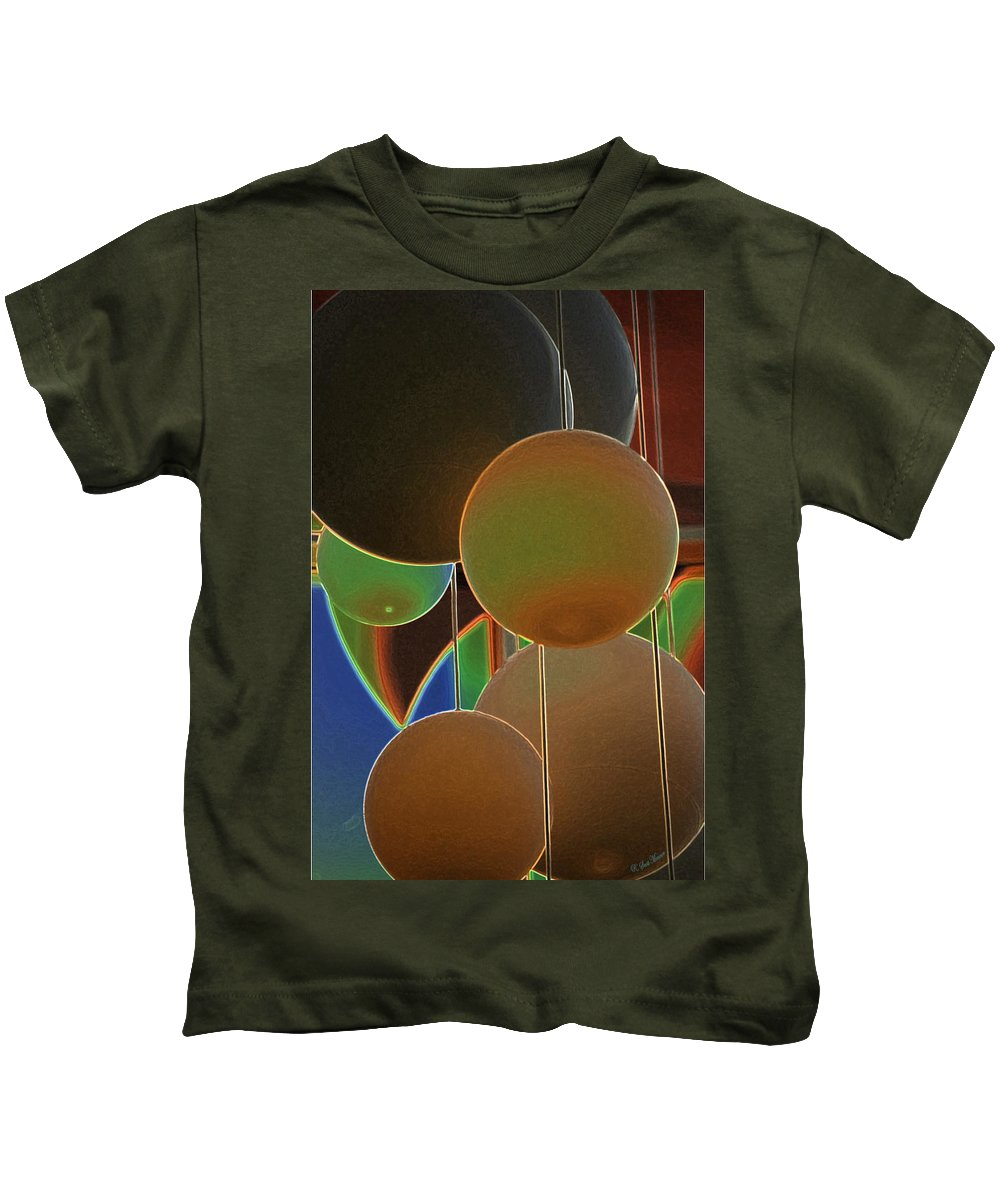 Colored Bubbles Kids T-Shirt featuring the photograph Colored Bubbles by Robert Meanor