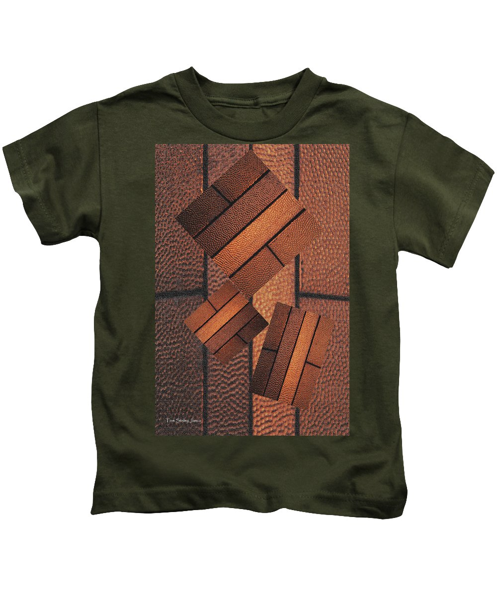 Copper Plate Abstract Kids T-Shirt featuring the photograph Copper Plate Abstract by Tom Janca