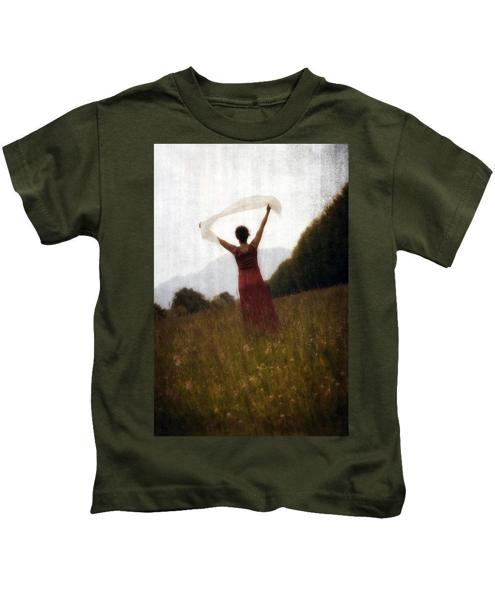 Female Kids T-Shirt featuring the photograph Dancing by Joana Kruse