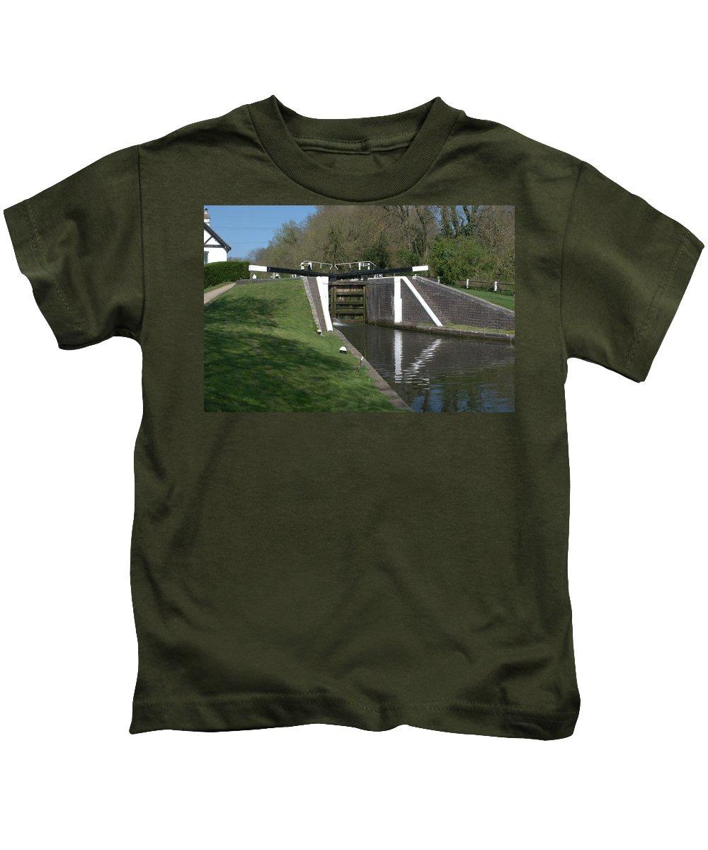 Denham Deep Lock Kids T-Shirt featuring the photograph Denham Deep Lock by Chris Day