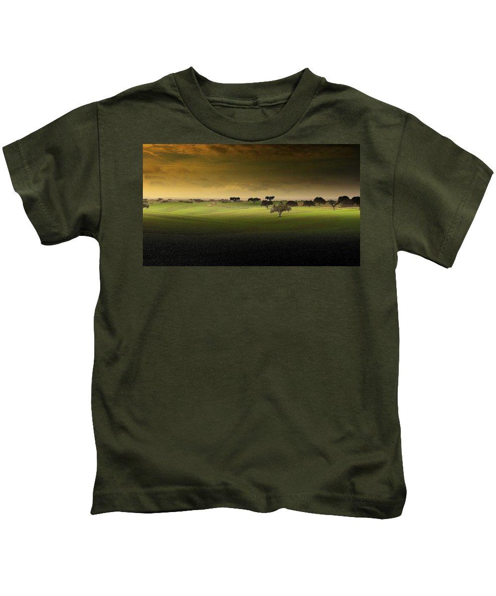 Field Kids T-Shirt featuring the digital art Field by Dorothy Binder