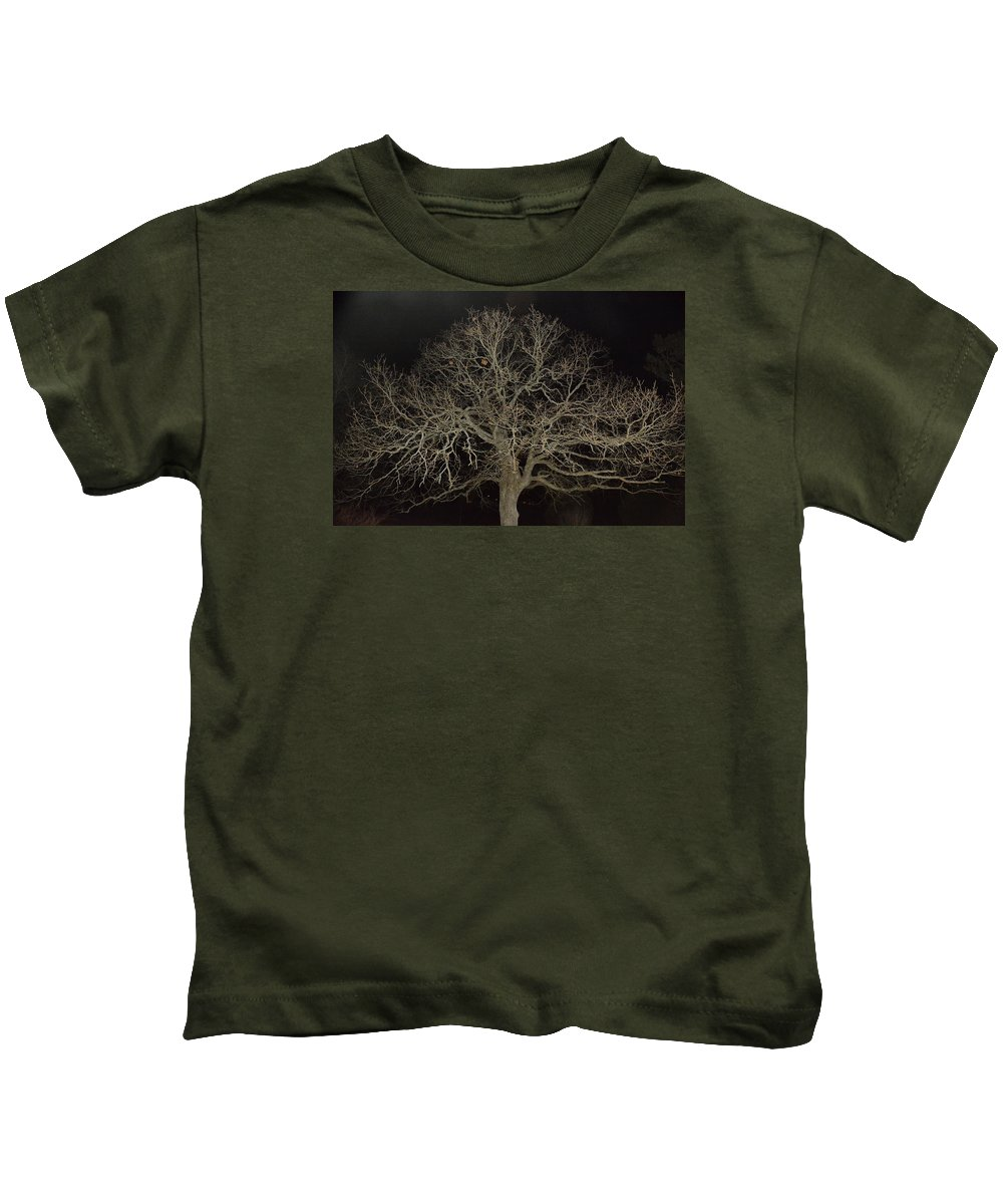 Trees Kids T-Shirt featuring the photograph Ghostly Tree by Mike Fairchild