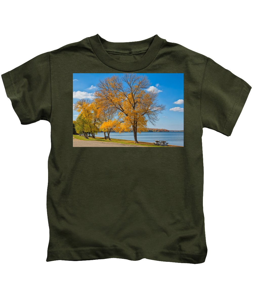 Sky Kids T-Shirt featuring the photograph Golden Leaves by John M Bailey