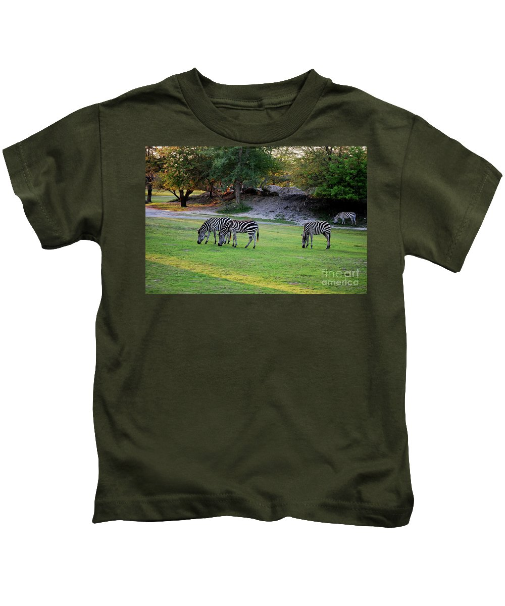 Grazing Kids T-Shirt featuring the photograph Grazing by Robert Meanor