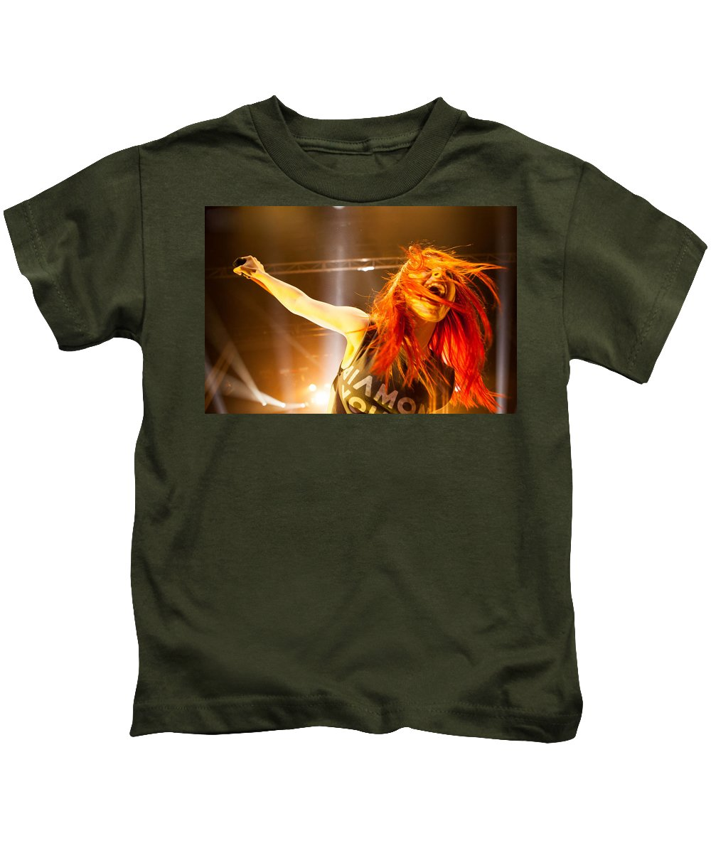 Hayley Williams Kids T-Shirt featuring the digital art Hayley Williams by Dorothy Binder